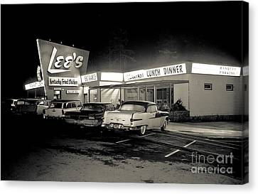 Night At Lee's Steak House Canvas Print