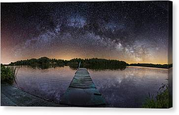 Night At The Lake  Canvas Print by Aaron J Groen
