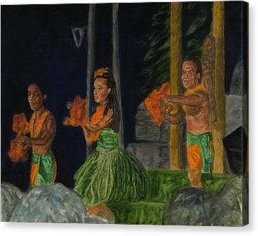 Night At The Luau Canvas Print