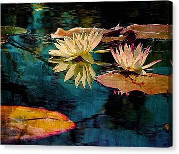 Night At The Pond Canvas Print by Bernie  Lee