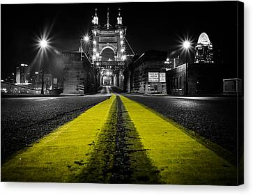 Night Bridge Canvas Print