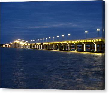 Night Bridge Canvas Print by Steve Phillips