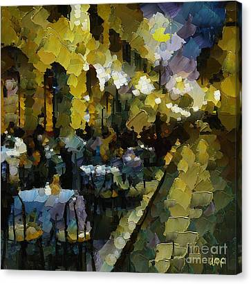 Night Cafe Canvas Print by Dragica  Micki Fortuna