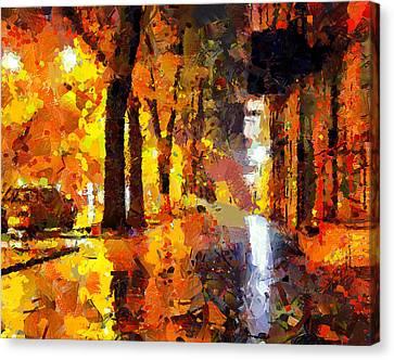 Night City Lights Canvas Print by Yury Malkov