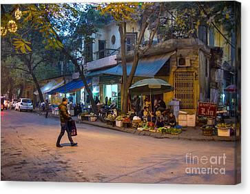 Night Crossing Hanoi Canvas Print by Rick Bragan
