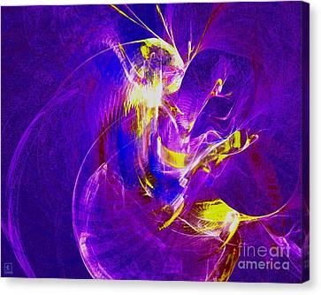 Night Dancer 1 Canvas Print by Jeanne Liander
