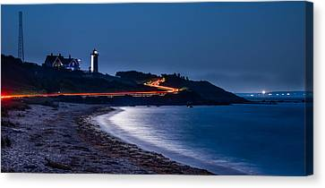 Night Drive To Nobska Canvas Print