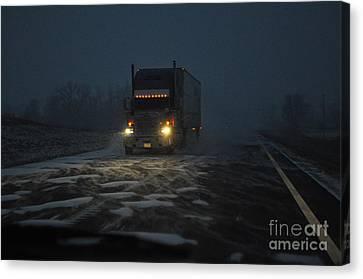 Night Driver Canvas Print