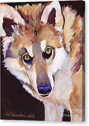 Pat Saunders-white Art Canvas Print - Night Eyes by Pat Saunders-White