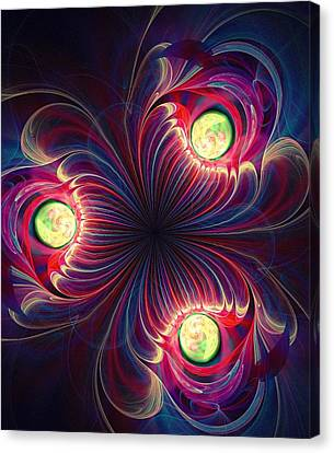 Decorative Canvas Print - Night Flower by Anastasiya Malakhova