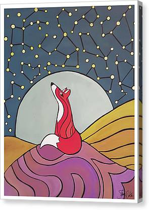 Night Fox Canvas Print by Shanni Welsh