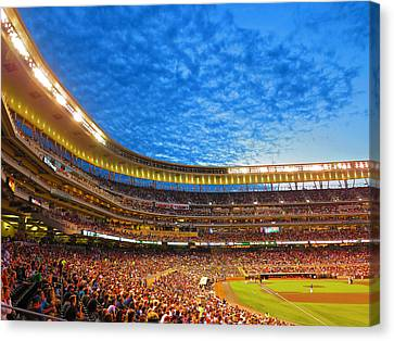 Night Game At Target Field Canvas Print