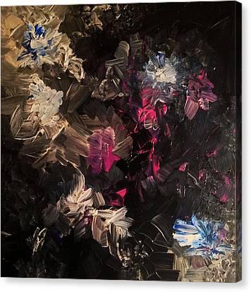 Night Garden Canvas Print by Anna Villarreal Garbis