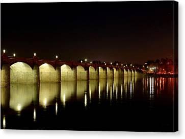 Night Glow - Harrisburg Bridge Canvas Print