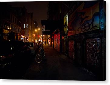 Night In New York City Canvas Print by Vivienne Gucwa