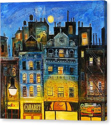 Night In New York Canvas Print by Mikhail Zarovny