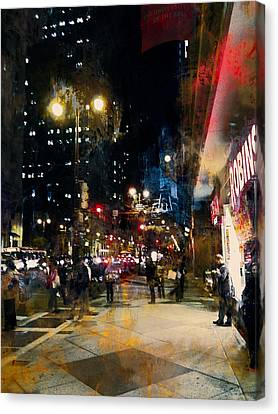 Night In The City Canvas Print