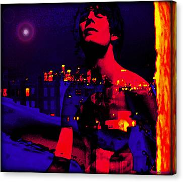 Night In The City Looks Pretty Looks Pretty To Me Canvas Print