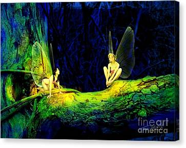 Night In The Cove Canvas Print by Tom Straub