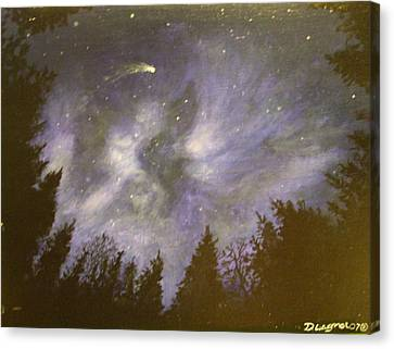 Night In The Forrest Canvas Print by Dan Wagner