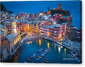 Night In Vernazza Canvas Print by Inge Johnsson