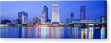 Night, Jacksonville, Florida, Usa Canvas Print by Panoramic Images