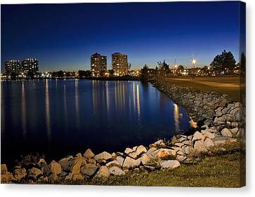 Night Light In Barrie Canvas Print