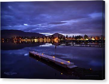 Night Lights Canvas Print by Guy Hoffman