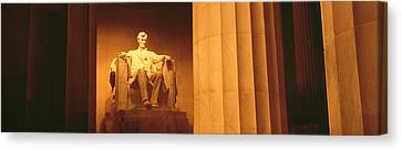 Night, Lincoln Memorial, Washington Dc Canvas Print by Panoramic Images