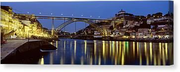 Night, Luis I Bridge, Porto, Portugal Canvas Print by Panoramic Images