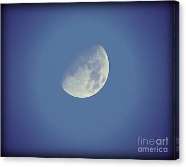Night Moon Rising Canvas Print by Leslie Hunziker