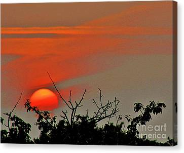 Night Night World... Canvas Print
