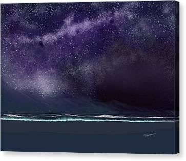 Canvas Print featuring the digital art Night Of A Thousand Stars by Anthony Fishburne