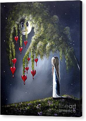 Night Of The Bleeding Hearts By Shawna Erback Canvas Print by Shawna Erback