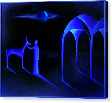 Night Of  The Blue Moon Canvas Print by Hartmut Jager
