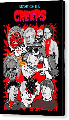 Night Of The Creeps  Canvas Print by Gary Niles
