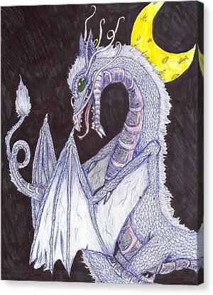Night Of The Dragon Canvas Print by Joshua Massenburg