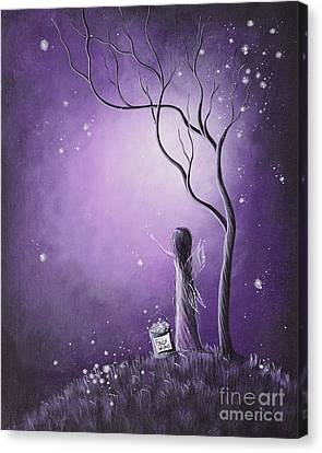 Starry Canvas Print - Original Fairy Artwork By Shawna Erback by Shawna Erback