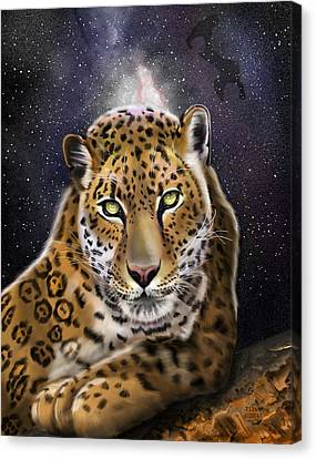 Canvas Print featuring the painting Fourth Of The Big Cat Series - Leopard by Thomas J Herring