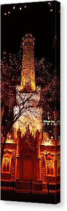 Night, Old Water Tower, Chicago Canvas Print