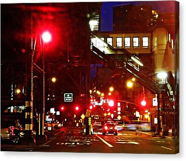 Night On West 125 Street Canvas Print by Sarah Loft