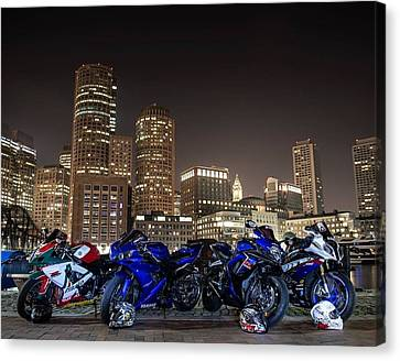 Canvas Print featuring the photograph Night Out by Lawrence Christopher