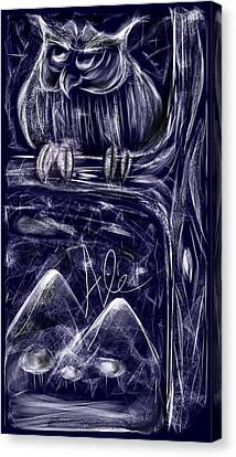 Night Owl Canvas Print by Alessandro Della Pietra