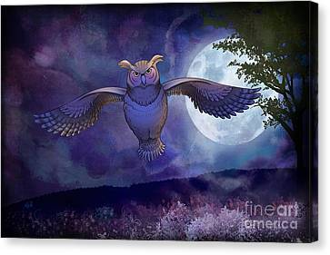Adorable Canvas Print - Night Owl by Peter Awax