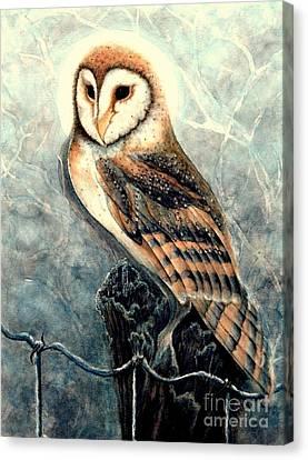 Night Owl Canvas Print by Janine Riley