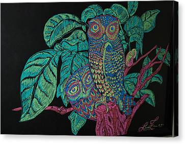 Night Owls Canvas Print by Lorinda Fore
