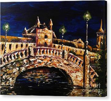 Night Passage Canvas Print by Karen  Ferrand Carroll