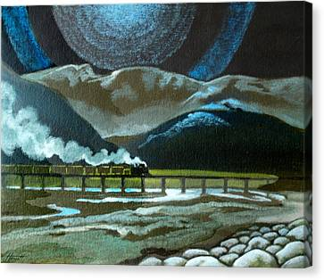 Night Passage - Ww480 Steam Canvas Print by Patricia Howitt