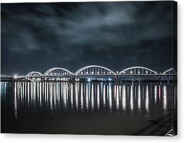 Night Reflections Canvas Print by Ray Congrove