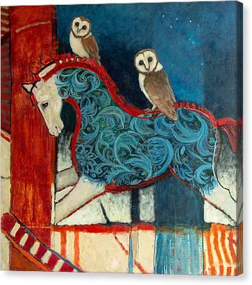 Night Riders Canvas Print by Jennifer Croom
